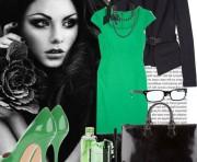 Как носить зеленый цвет