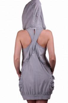 Платье с капюшоном и карманом
