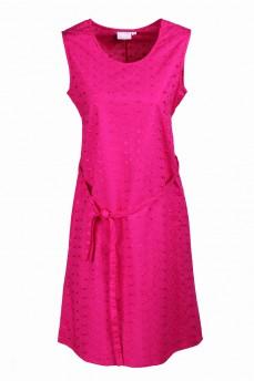Платье малиновое с поясом
