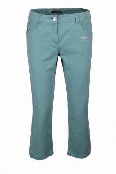 Укороченные брюки бирюзового цвета