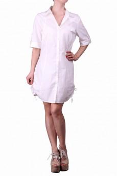 Платье-рубашка белая