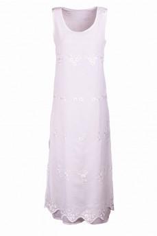 Платье длинное с вышивкой