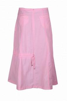 Юбка розовая ассиметричная