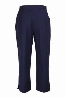 Капри синие с карманами