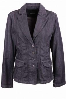 Пиджак деним черный