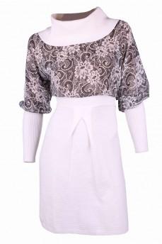 Платье с шифоном белого цвета
