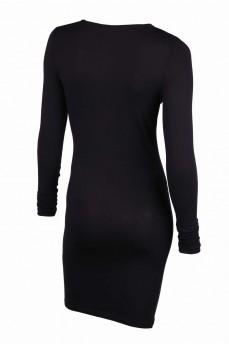 Платье-чулок черное из лиоцеля