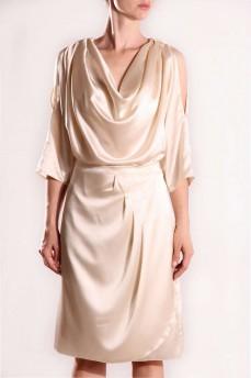 Блуза шелковая кремовая качели