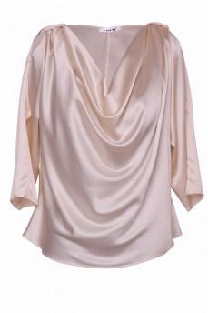 Кремовая блуза шелковая качели