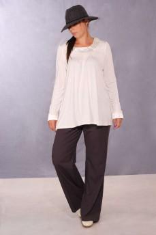 Блуза с атласными манжетами