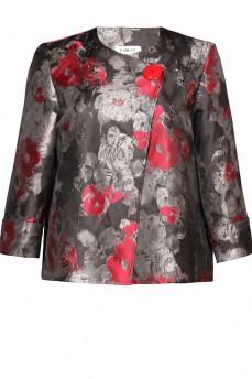 Пиджак из тафты асиметрия