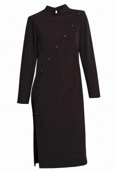 Платье японское пуговицы черные