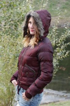 Бомбер куртка стеганная с утеплителем экопух