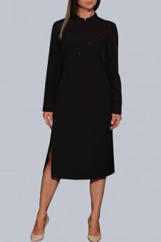 Платье поплиновое японское черные пуговицы