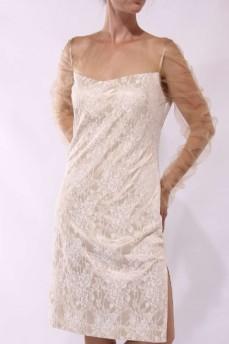 Платье гипюровое с сеткой
