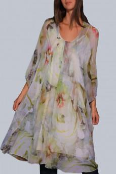 Платье шифоновое воротник шарф