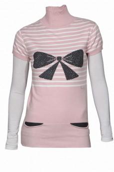 Пудрово-розовый гольф удлиненный