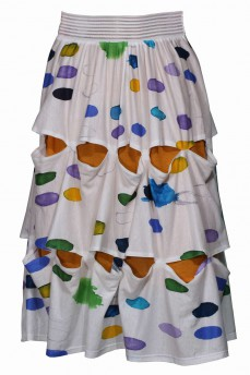 Белая юбка с рисунком мазки