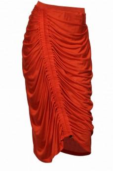 Юбка с драпировкой оранжевый цвет
