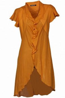 Желтый кардиган из модала