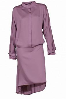 Шелковое платье виола со стойкой