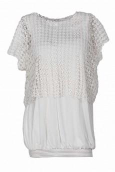 Комплект блуза макраме с топом