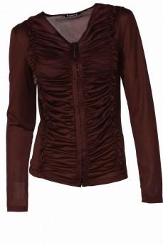 Блуза коричневая с крючками