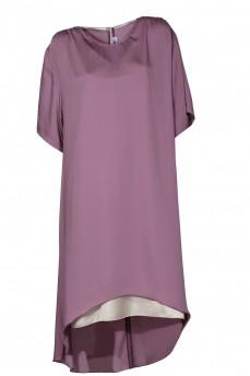 Сиреневое платье с вставкой