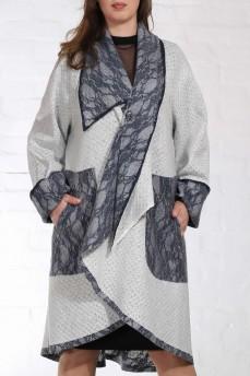 Двустороннее шерстяное пальто пончо