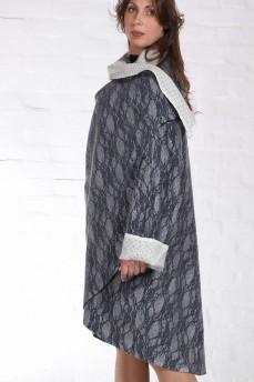 Шерстяное пальто пончо двустороннее
