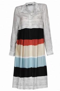 Платье рубашка цветные полоски