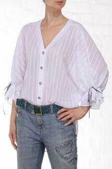 Блуза рубашка бабочка белая