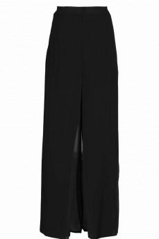 Брюки -юбка шифоновые черные