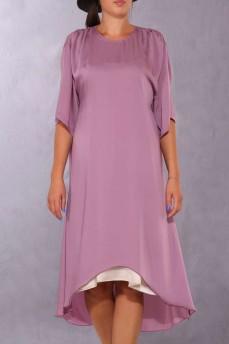 Платье сиреневое шелковое