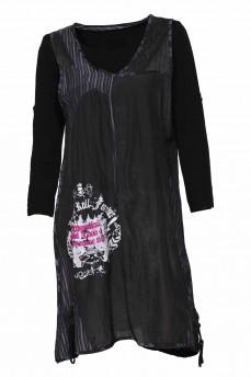 Платье двойка черное