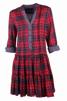 Платье красное в клетку-шотландка