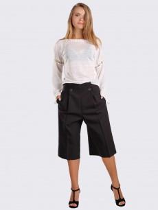 Льняная кремовая блуза