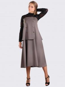 Платье корсет из шерсти оливковый цвет