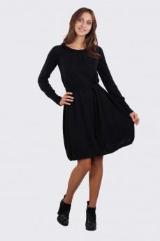Платье с воротником косичка и поясом
