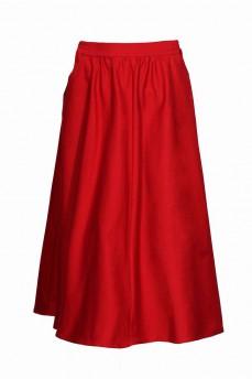 Юбка полусолнце с карманами красная