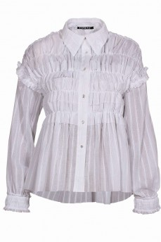 Блуза белая c рюшами