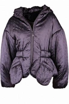 Ультрамодный оверсайз куртка c объемным рукавом и накладными карманами