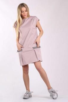 Платье котоновое  карман молния