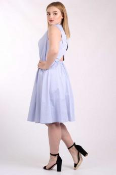 Платье голубое с бретелями на крест на спине