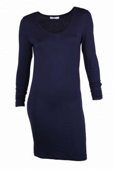 Платье-чулок синее из лиоцеля