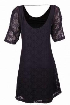 Платье черное из натурального кружева
