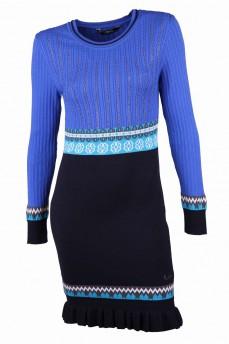 Платье синее с скандинавским узором