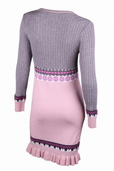Платье бледно-розовый с скандинавским узором