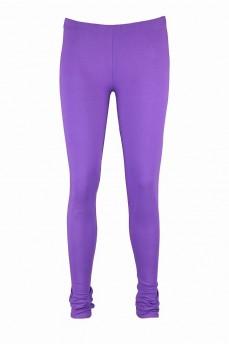 Леггинсы хлопковые фиолетовые