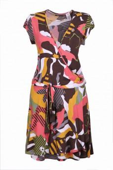 Платье на запах в магнолиях